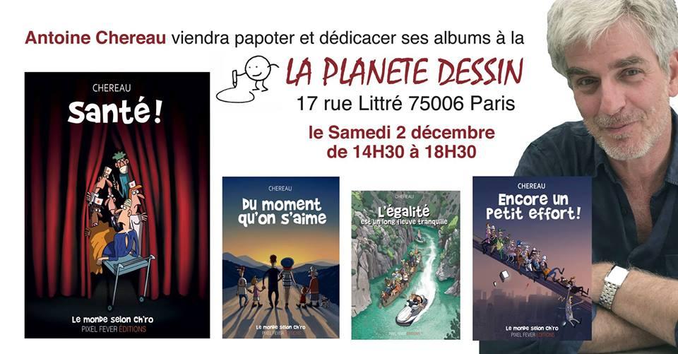 L événement Dédicace Antoine Chéreau Santé La Planete